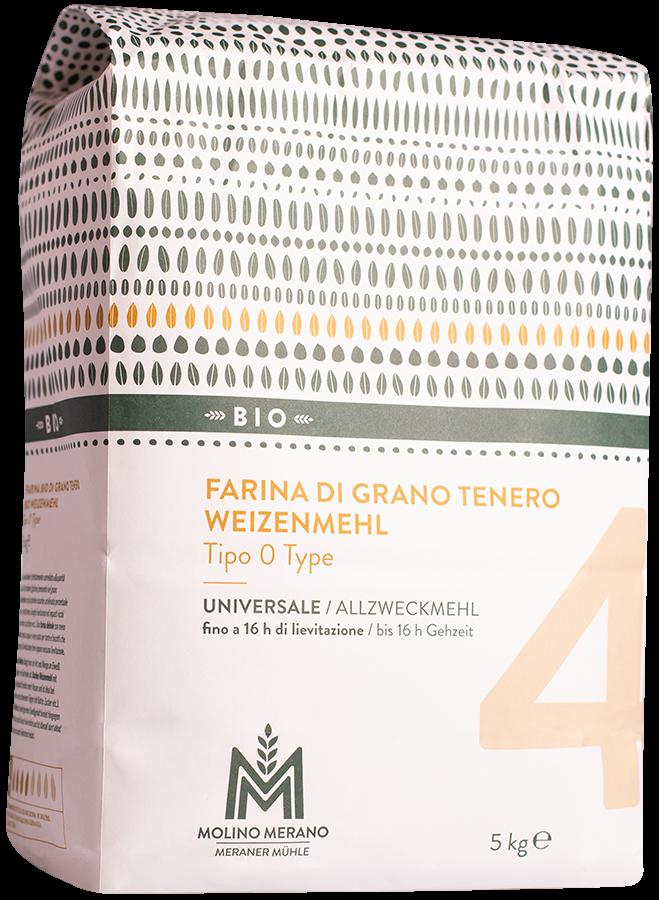 Farina di grano tenero nr. 4 tipo 0 Bio