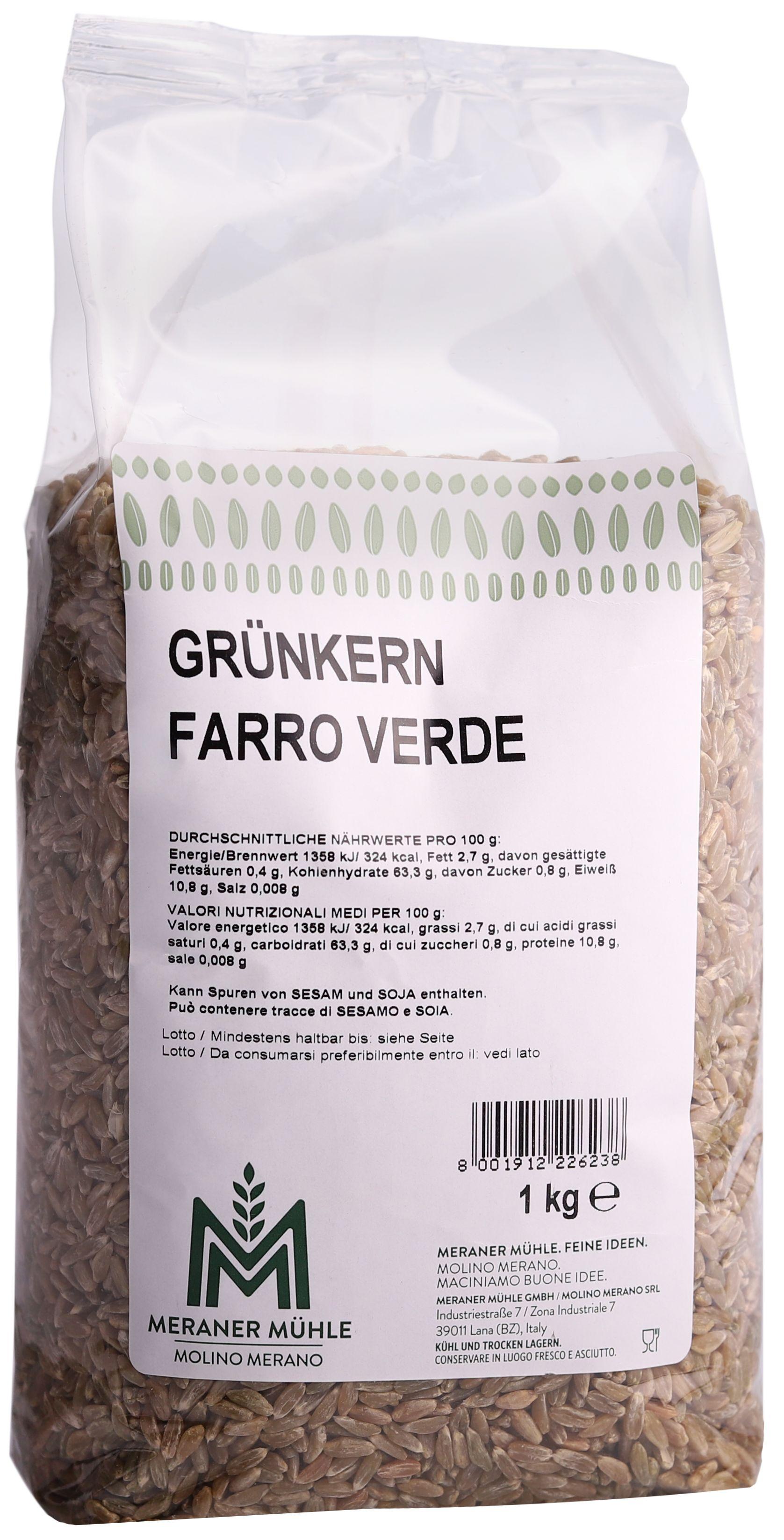 Unripe spelt grain