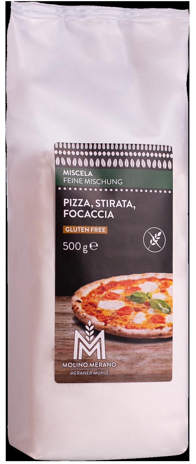 Backmischung Pizza, Stirata, Focaccia glutenfrei
