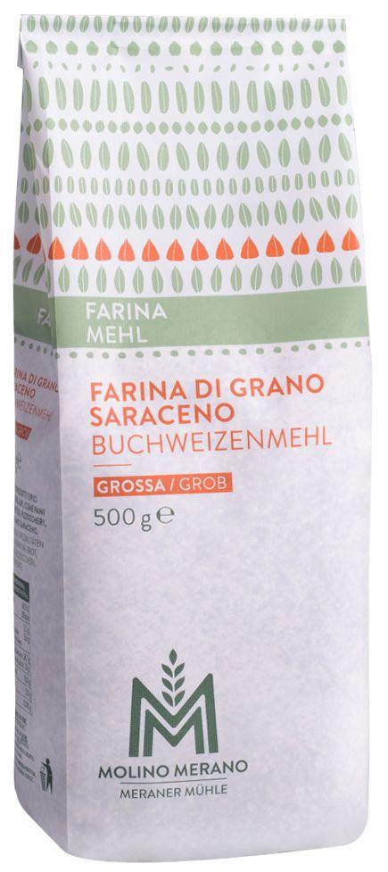 Coarse buckwheat flour