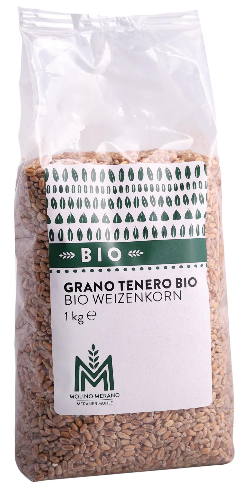 Organic wheat grain