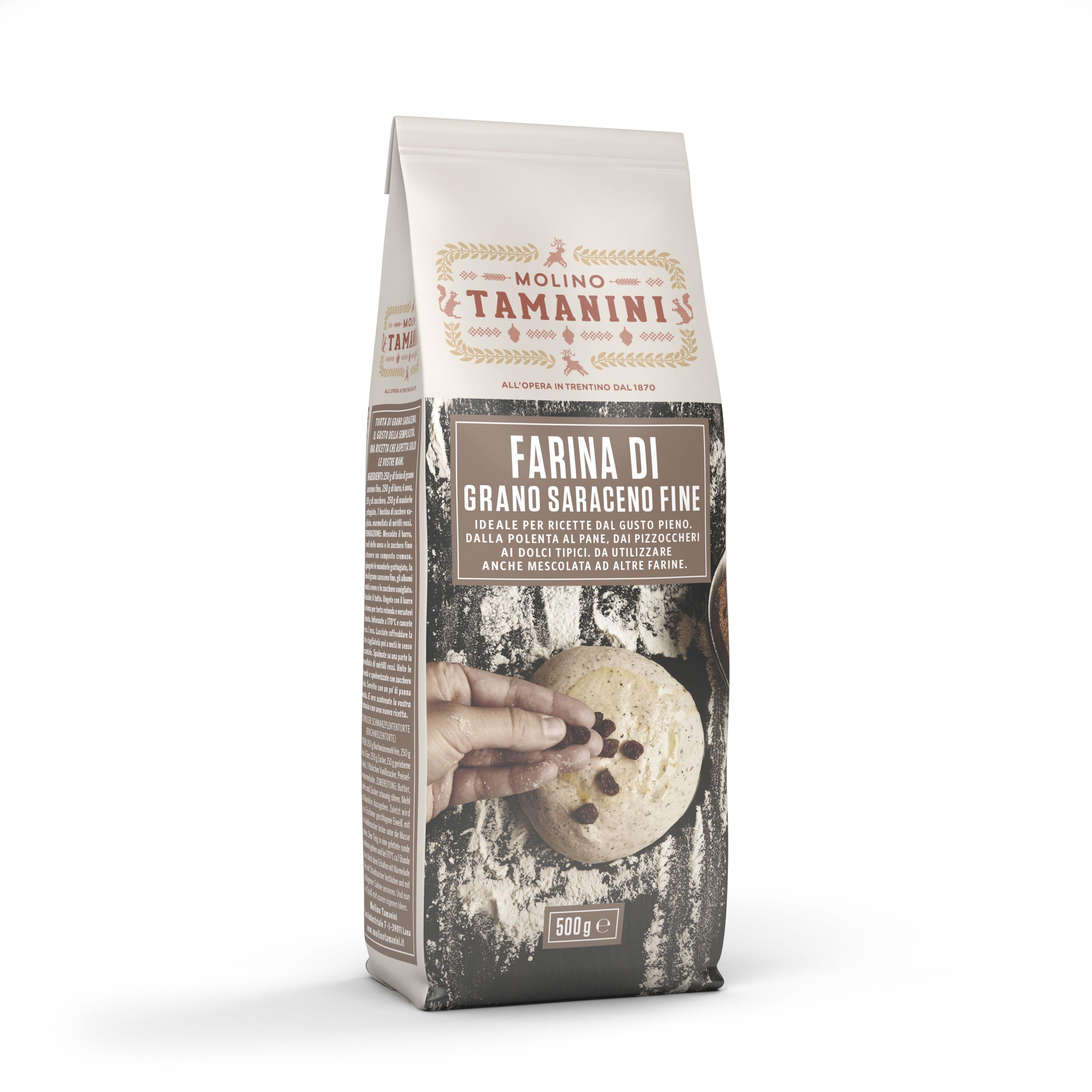 Fine buckwheat flour