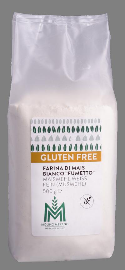 Farina di mais bianco senza glutine