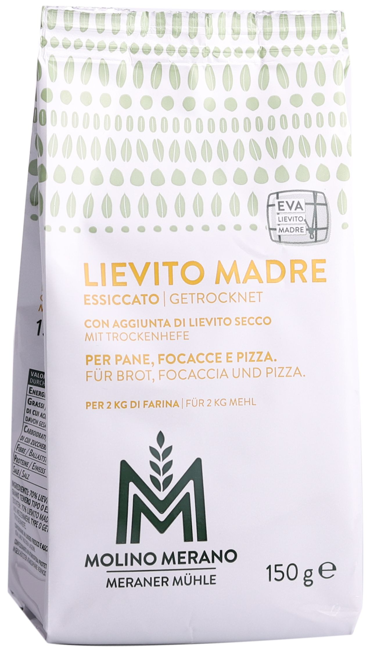 Lievito madre natural yeast with dried yeast