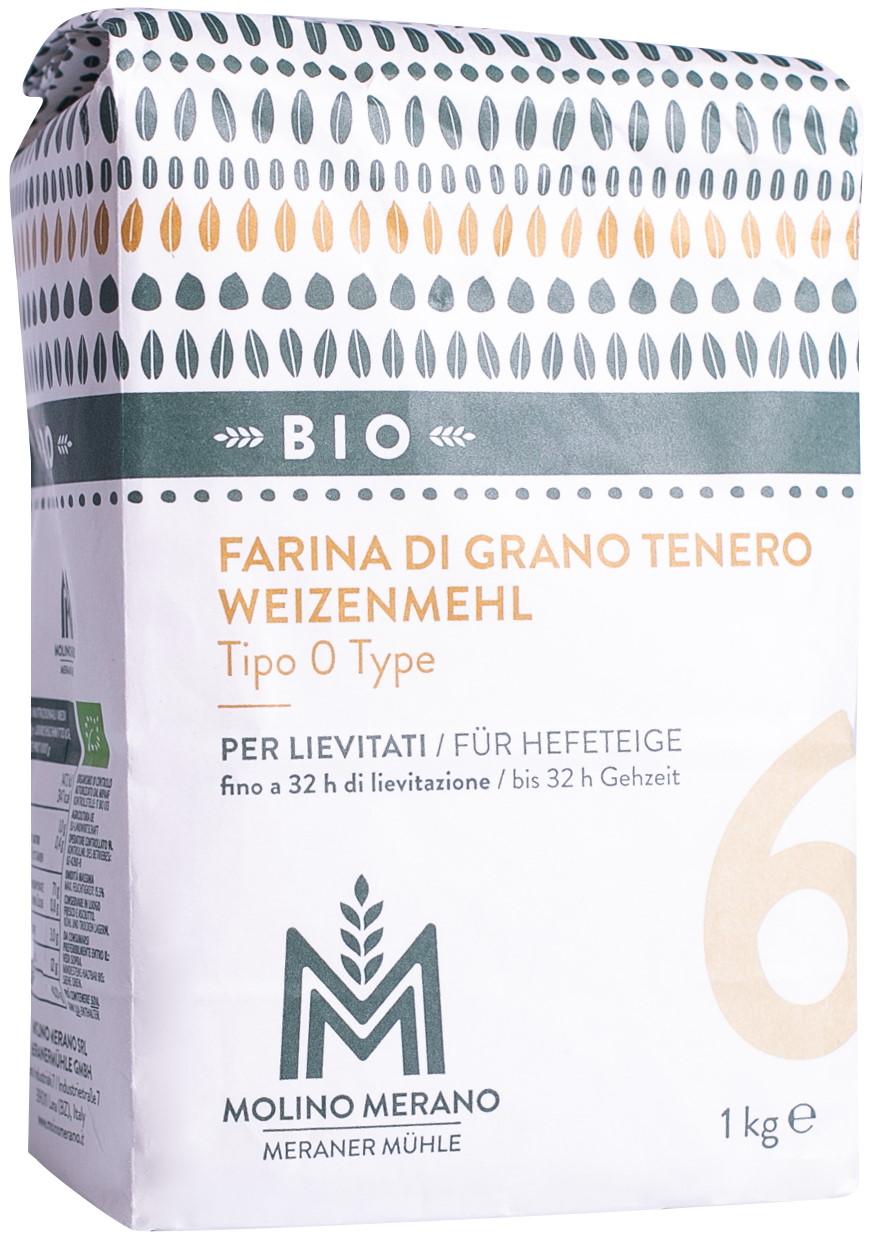 Organic soft wheat flour type 0 no. 6