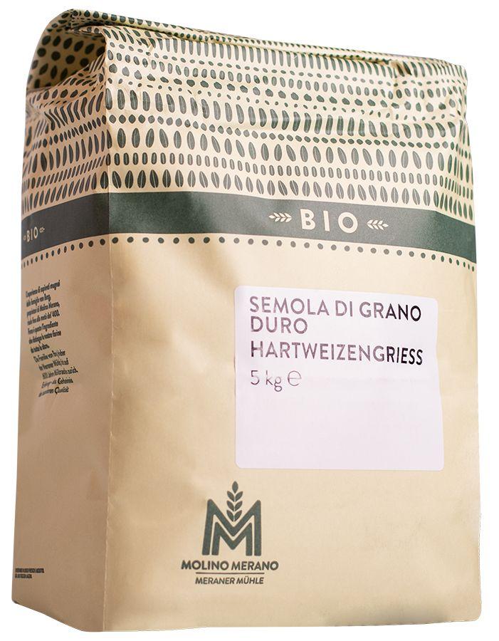 Organic durum wheat semolina
